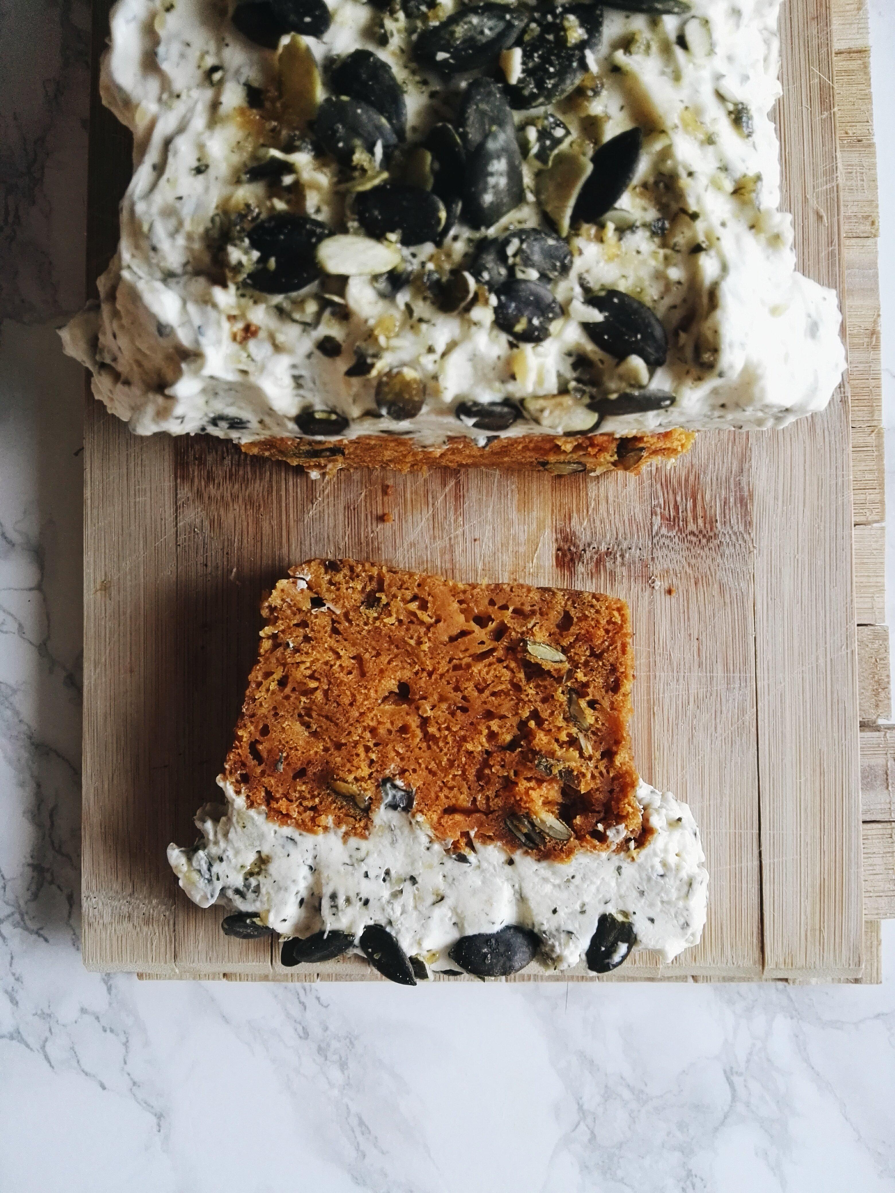 Ciasto dyniowe z kremem mascarpone i praliną dyniową 58