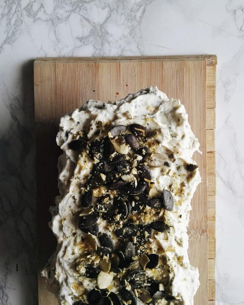 Ciasto dyniowe z kremem mascarpone i praliną dyniową 10