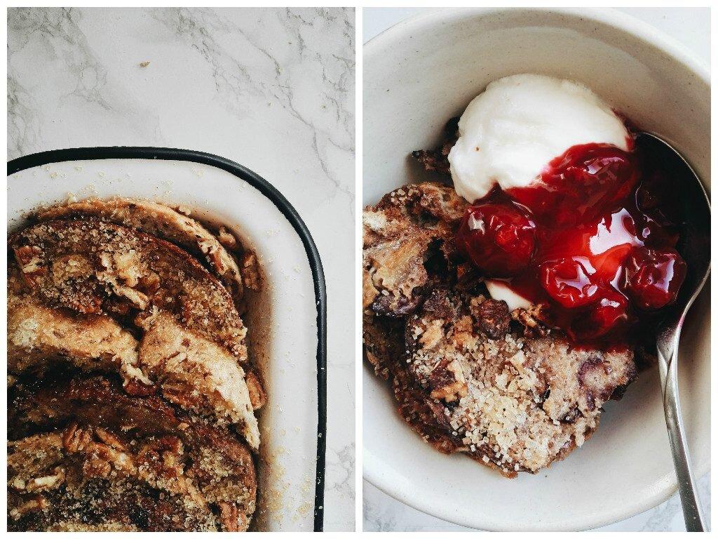 Razowy bread pudding z pekanami 4