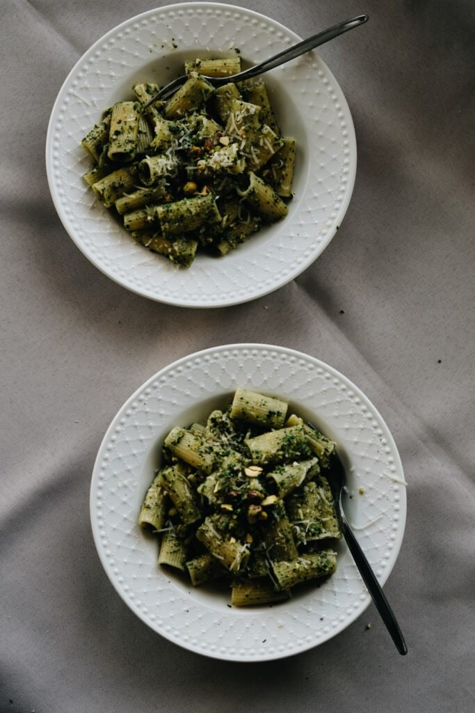 Makaron z miętowym pesto pistacjowym 8
