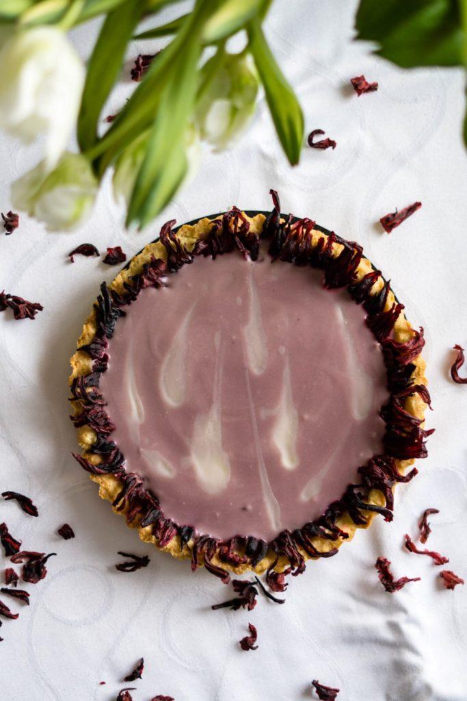 Mazurek/tarta hibiskusowa 11