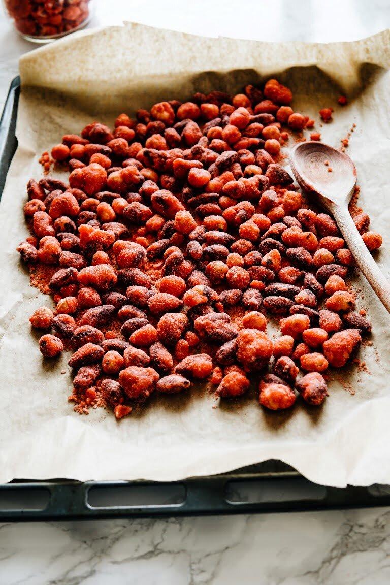 Różowa pralina liońska 60