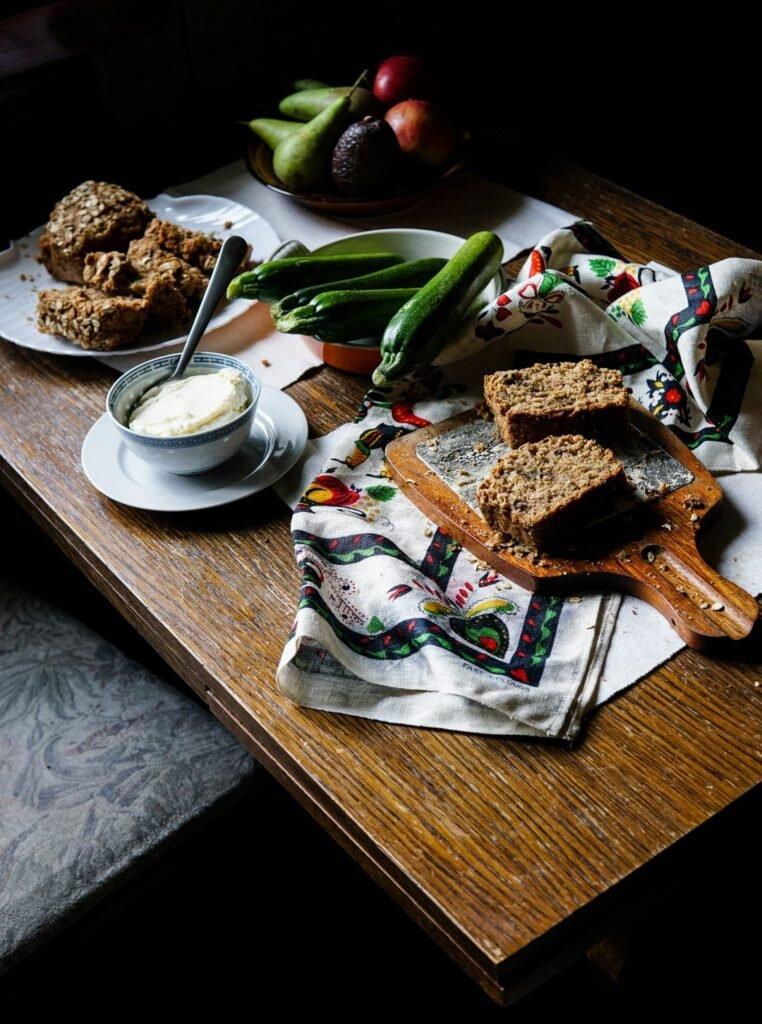 Chlebek cukiniowy z płatkami owsianymi 10