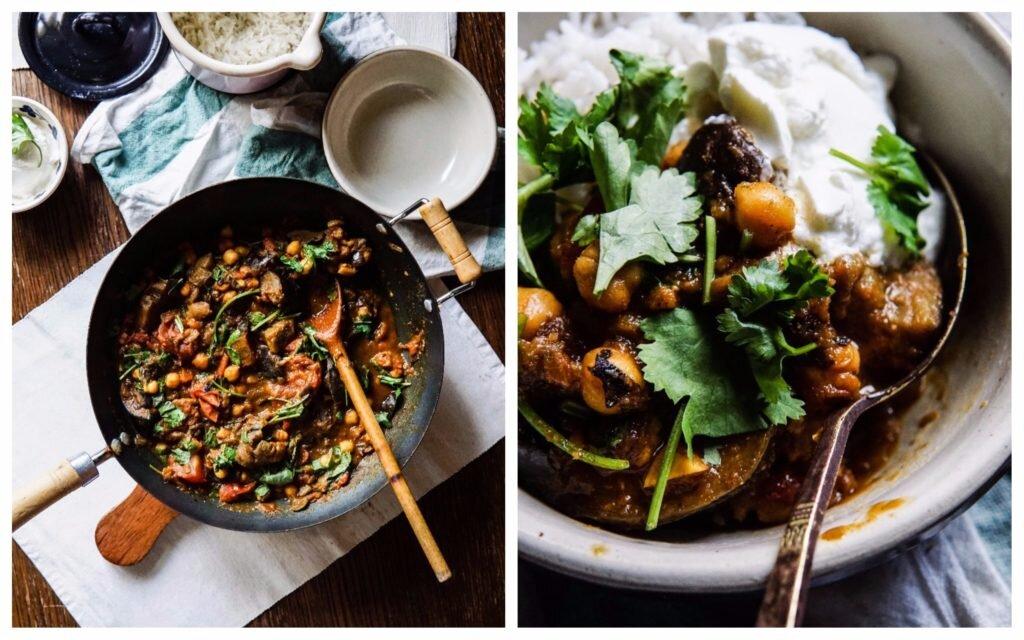 Curry z bakłażanem i ciecierzycą 8