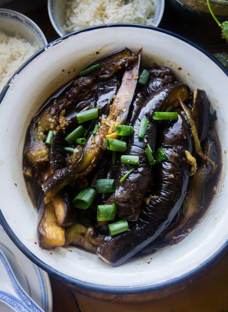 Bakłażany yu xiang w sosie z fermentowanej soi i chili 1