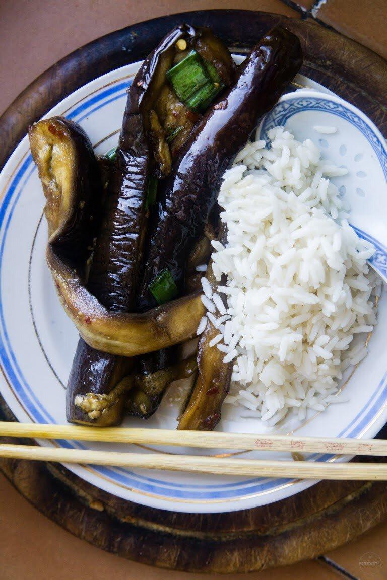 Bakłażany yu xiang w sosie z fermentowanej soi i chili 2