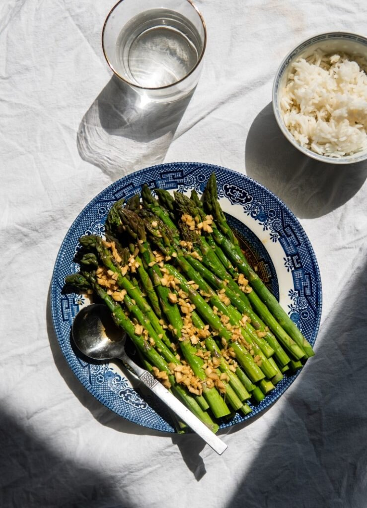 Szparagi w sosie imbirowym 2