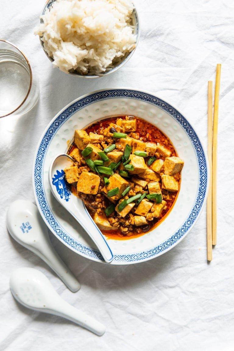 Syczuańskie mapo tofu z kurczakiem (lub nie) 2