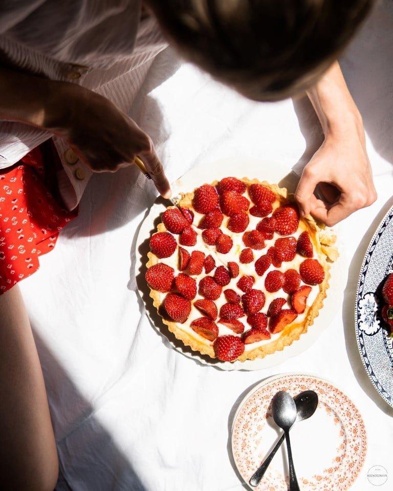 Jeszcze lepsza tarta z truskawkami i kremem mascarpone 6