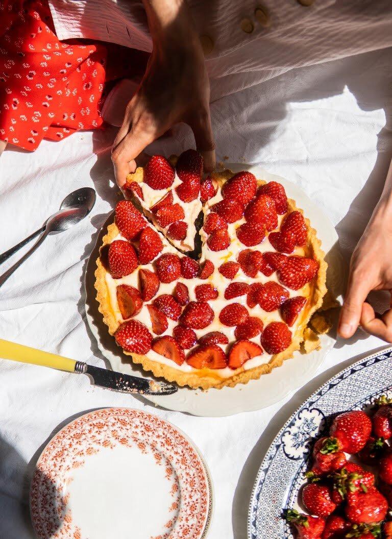 Jeszcze lepsza tarta z truskawkami i kremem mascarpone 2
