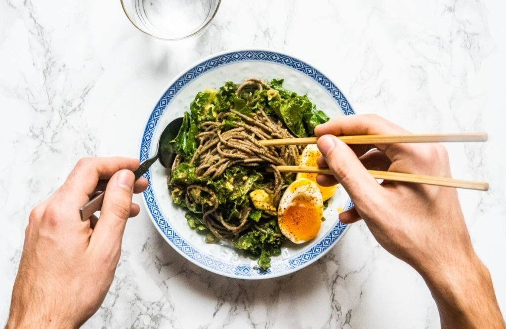 Soba Noodles with Avocado Sauce and 6-minute Egg 1