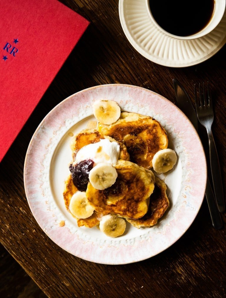 Fluffy Banana Pancakes with Buttered Cinnamon Honey 2