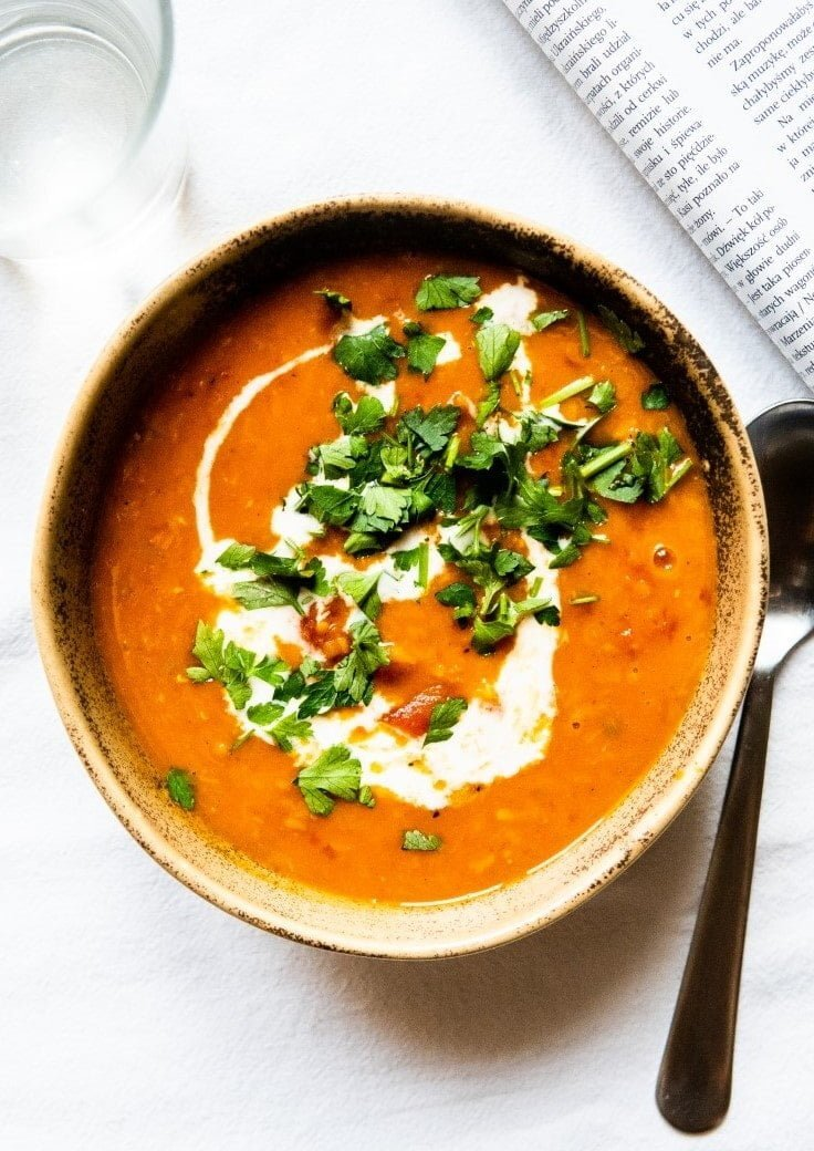 Lentil-Tomato Soup with Coconut Milk and Garlic-y Parsley 1