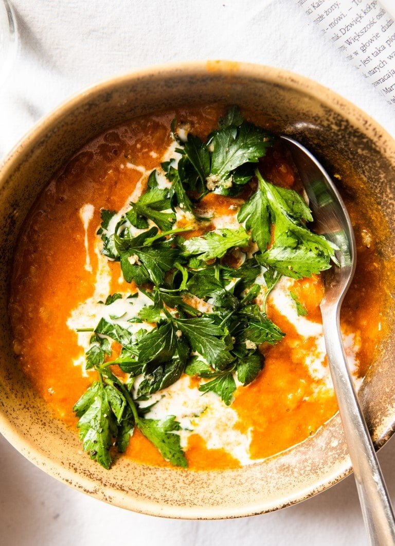 Lentil-Tomato Soup with Coconut Milk and Garlic-y Parsley 2