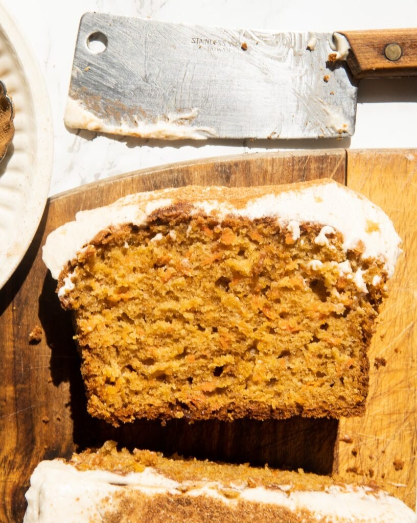 Carrot Bread with Honey Frosting 1