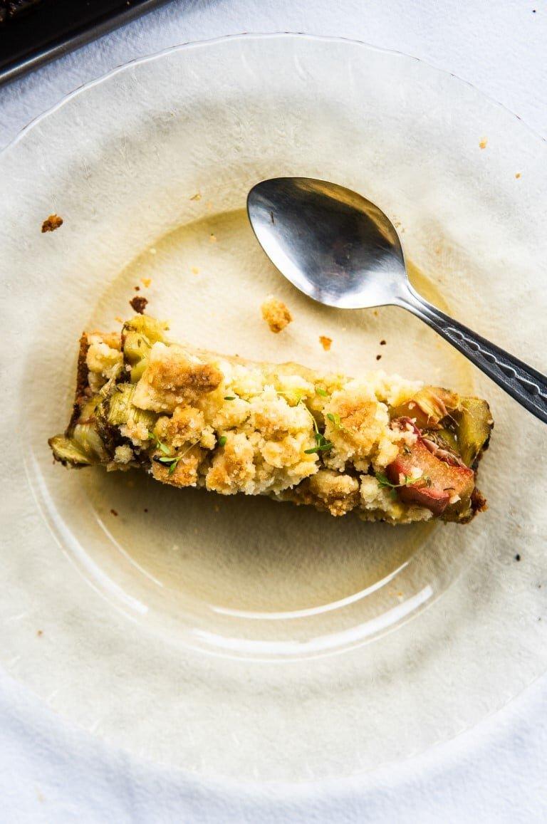 Ciasto kruche z rabarbarem i tymiankiem 1