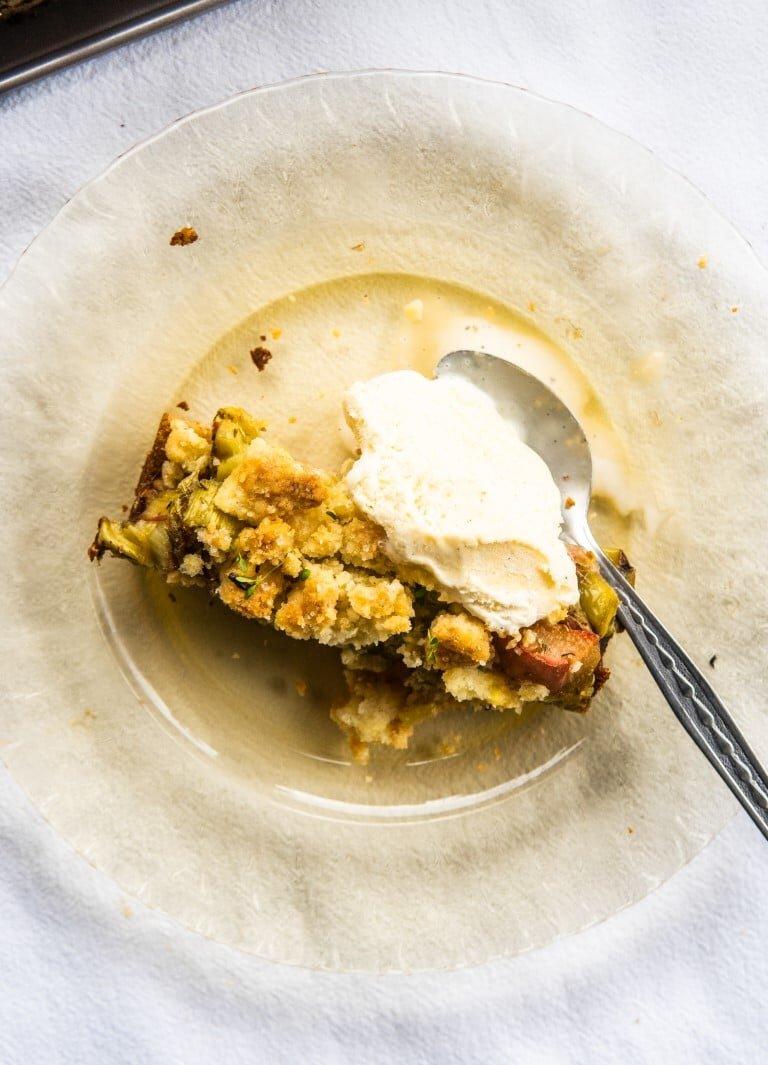 Ciasto kruche z rabarbarem i tymiankiem 2