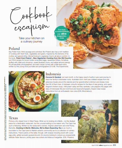 Cookbook Escapism: My cookbook Fresh from Poland featured in Olive Magazine! 2